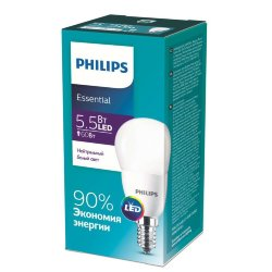 Лампа ESSLEDLustre 5.5-60Вт E14 840 P45ND RCA Philips 929001960207 / 871869961445400